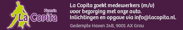La Copita zoekt bezorgers met een rijbewijs!