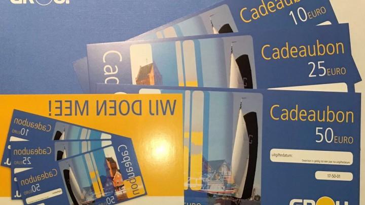 De cadeaubon is te koop in waarden van 10, 25 en 50 euro.