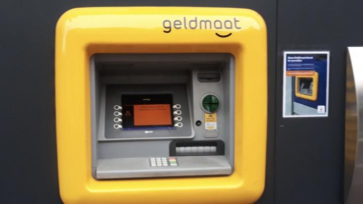 De Geldmaat in de Hoofdstraat is definitief buiten functie.