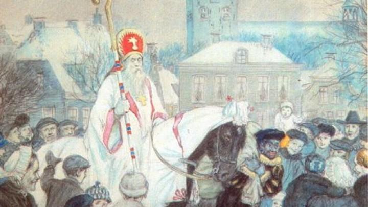 Krijttekening 'Sint Piter op it Grien'. In 1924 gemaakt door de Friese schilder Ids Wiersma.