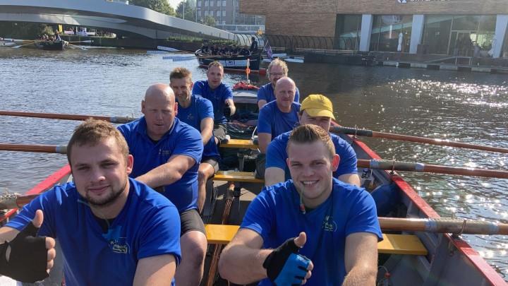 Grouster sloeproeiers leveren topprestatie in Amsterdam